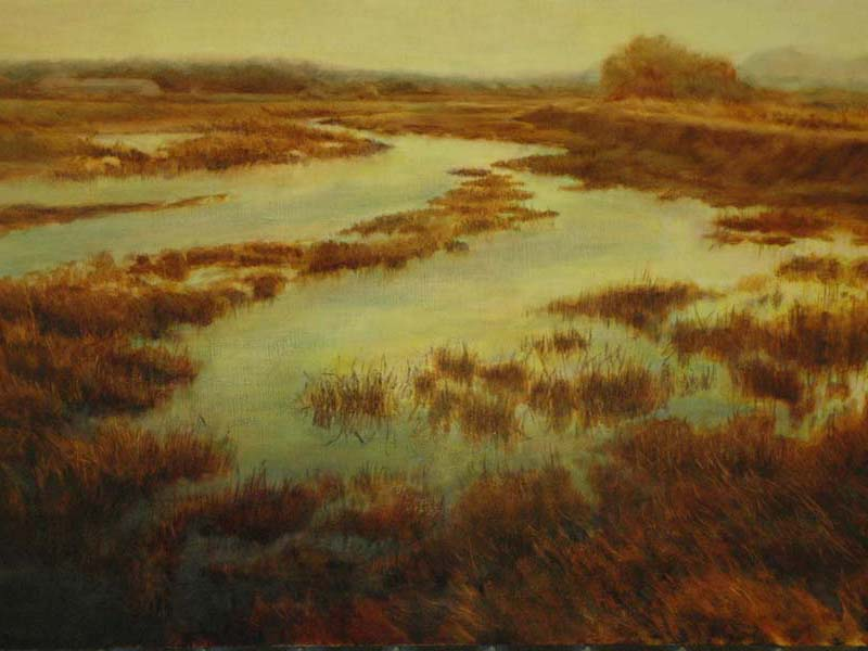 painting of skagit estuary