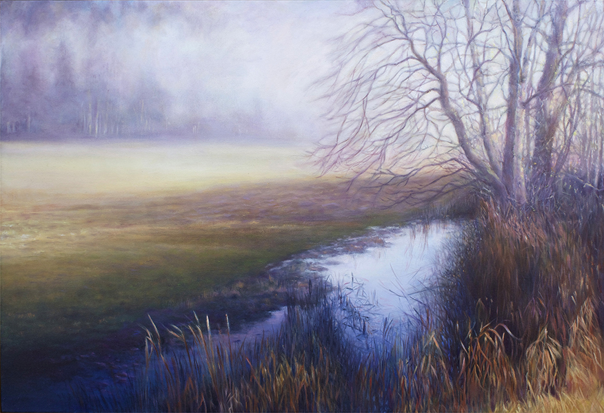 landscape oil painting by lynn zimmerman