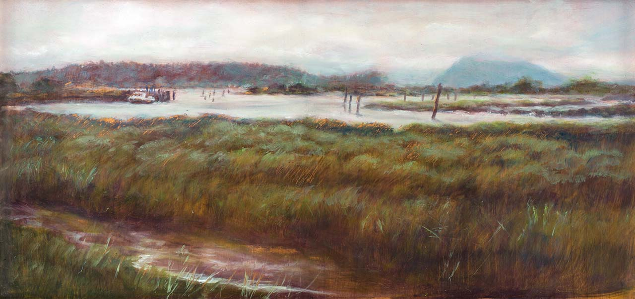 landscape painting of skagit wetlands