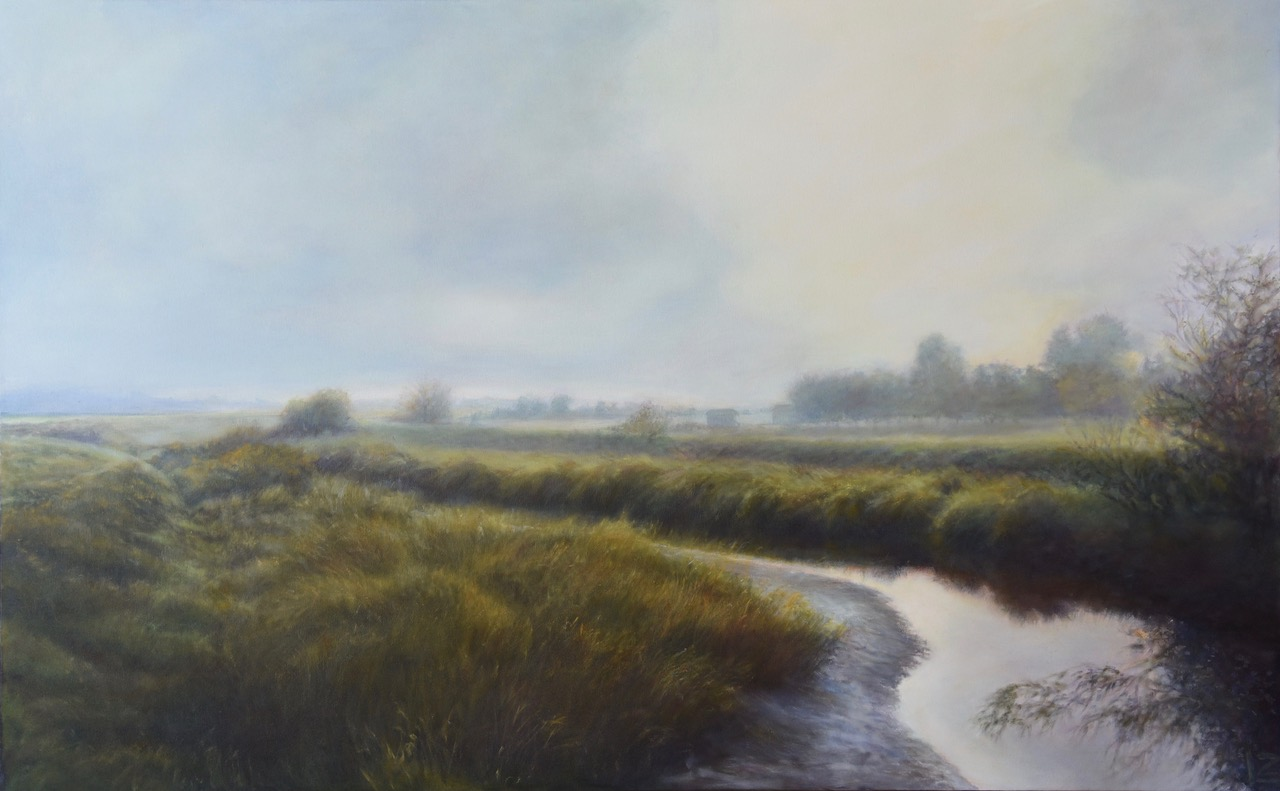 painting of the skagit valley by lynn zimmerman