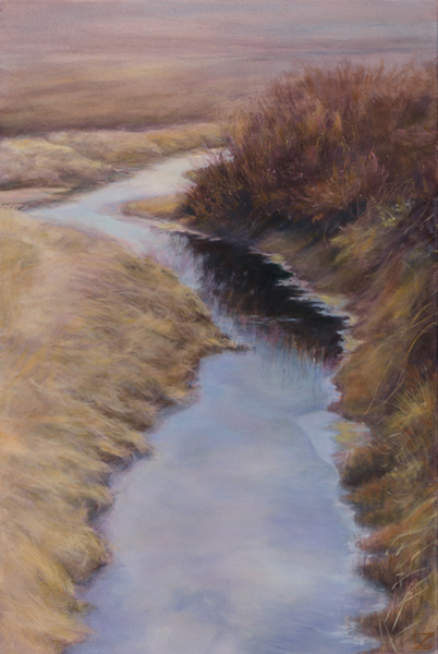 painting of skagit valley irrigation ditch