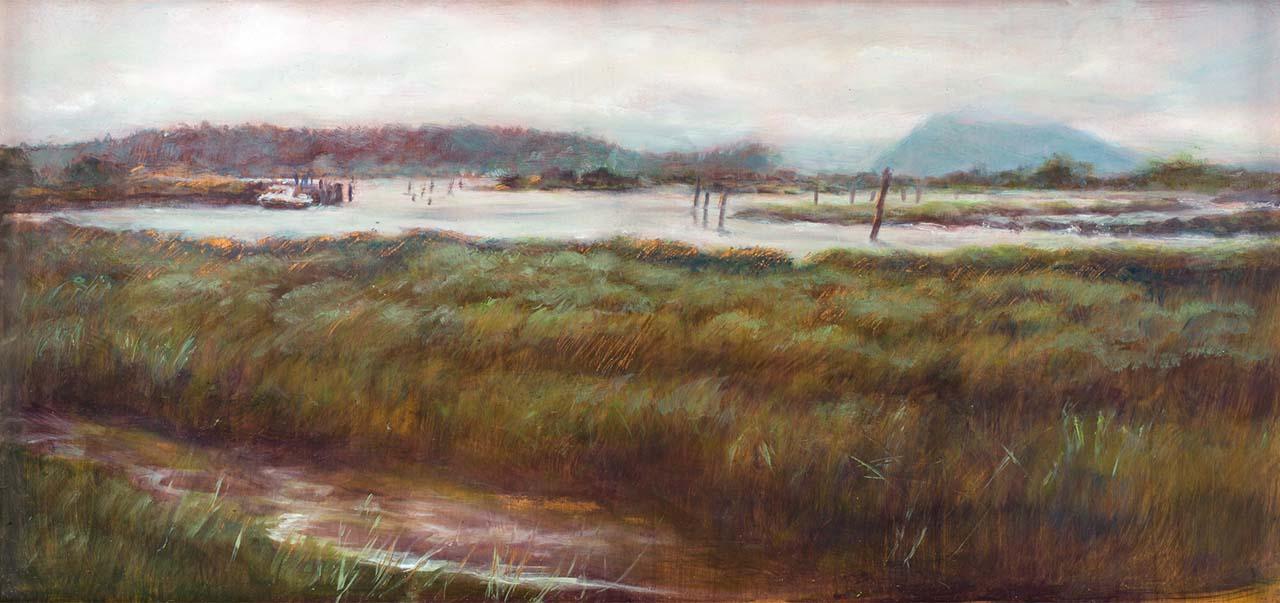 landscape painting of skagit wetlands