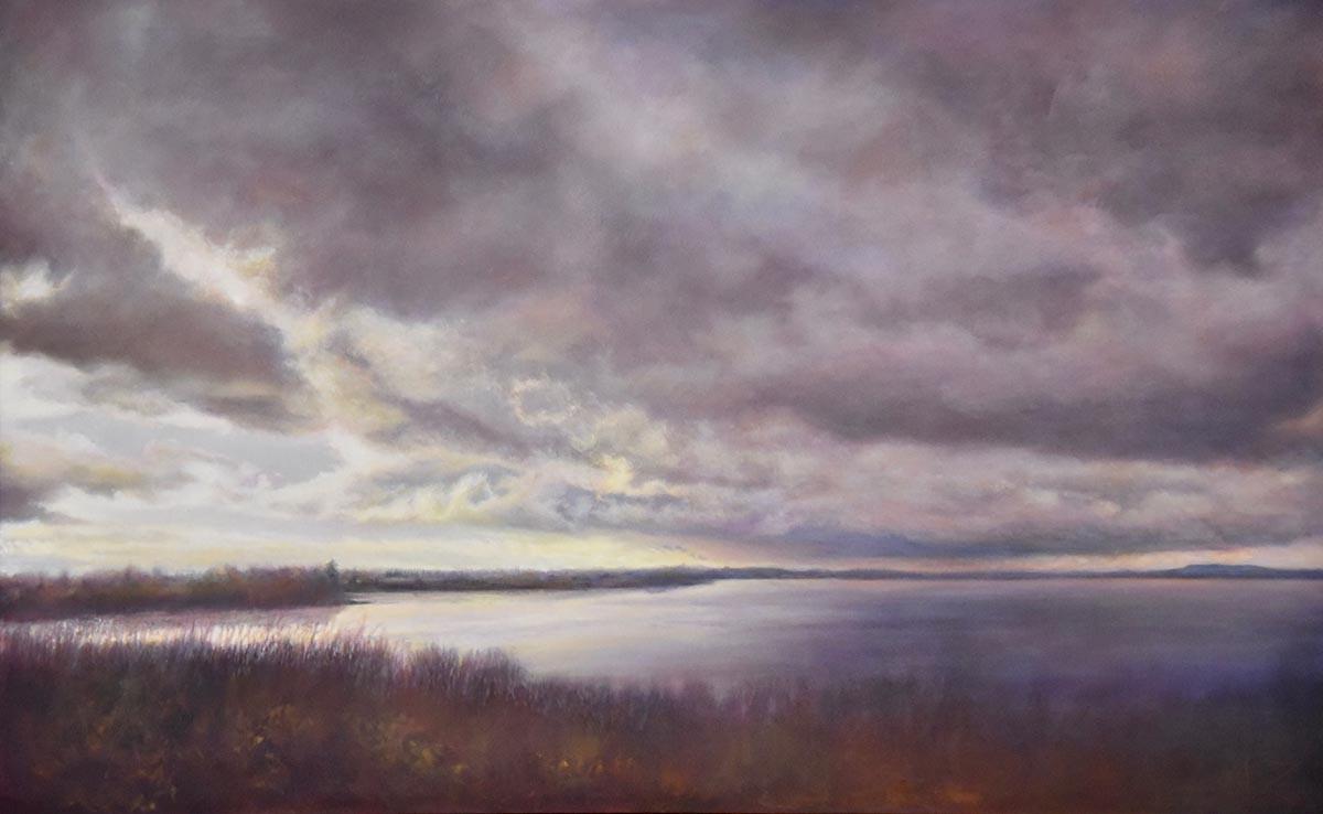 oil painting of skagit valley