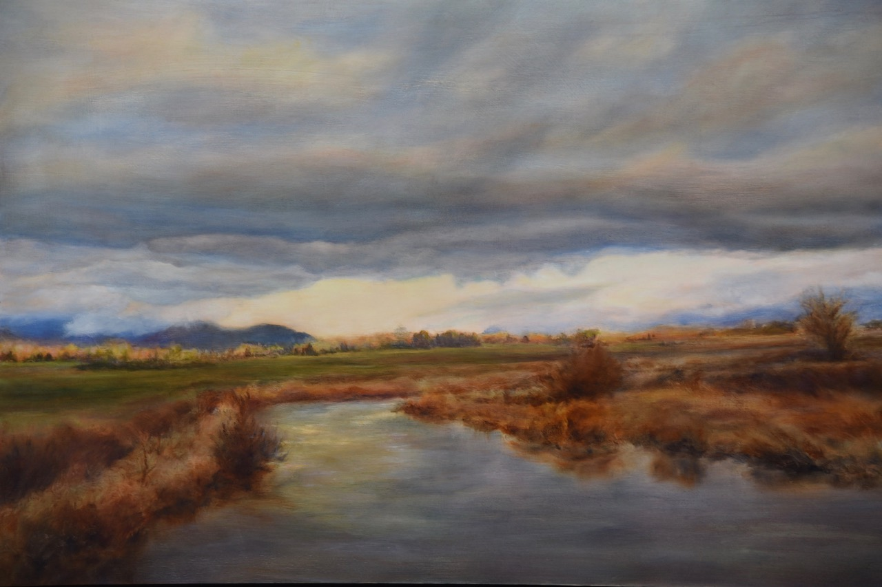 oil painting of skagit valley